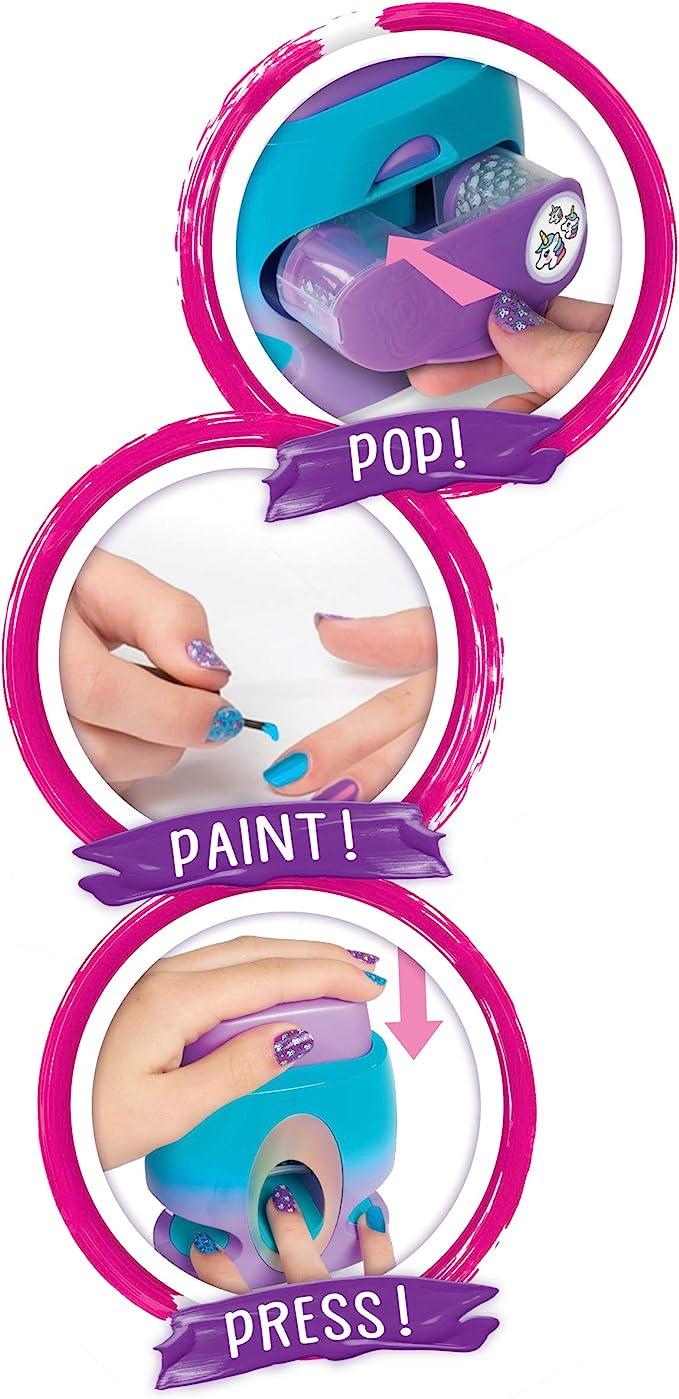 Spin Master- Cool Maker GoGlam Nail Studio GO GLAM - Sello de uñas con 5 patrones, Versión importada, Multicolor (6045484) , color/modelo surtido: Amazon.es: Juguetes y juegos