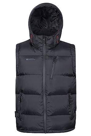 07414ef879 Mountain Warehouse Doudoune sans Manches Frost Extreme Homme - Résistante à  l'eau, Zips imperméables & Doublure résistante au Duvet - Idéale pour  Marcher et ...