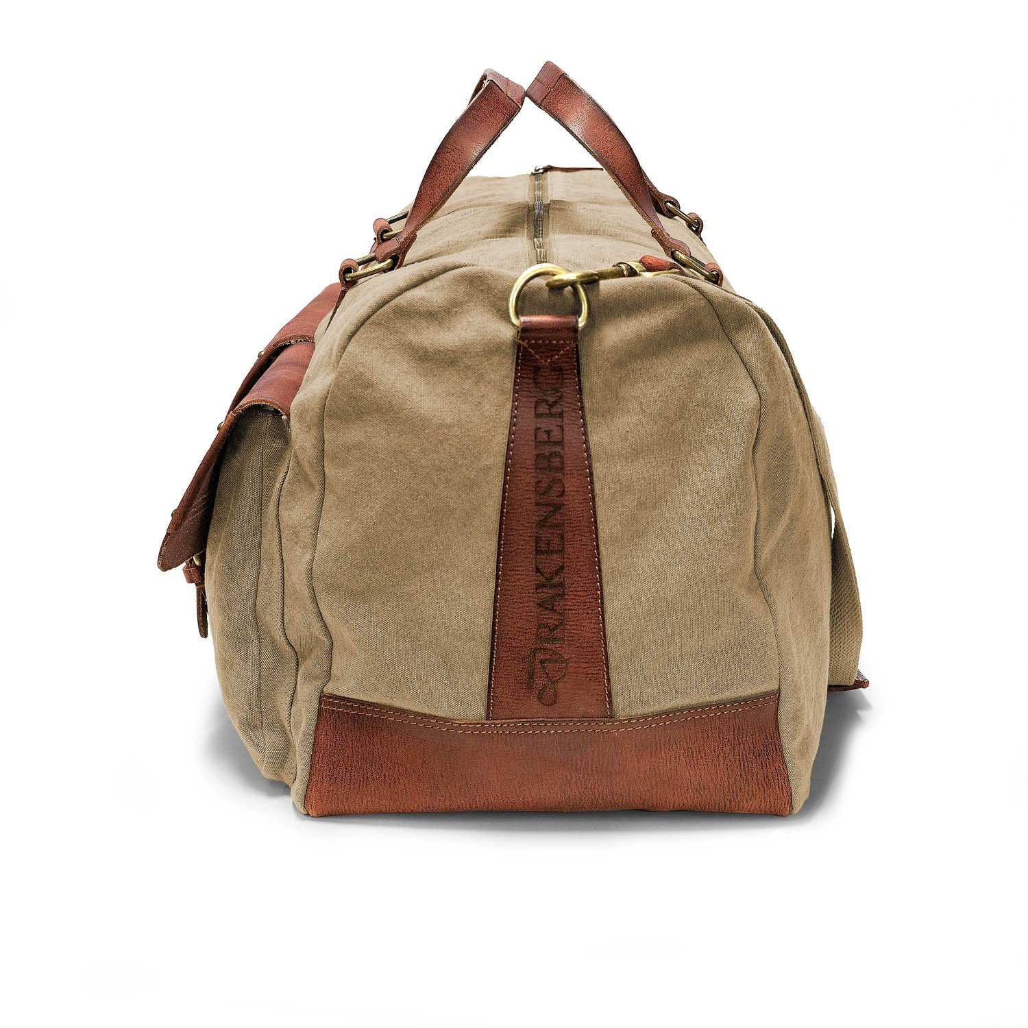 DRAKENSBERG Kimberley Long Weekender, sac de voyage, fourre-tout, artisanat, carry-all, toile, canvas, cuir de buffle, expédition, aventure, vintage, beige, marron