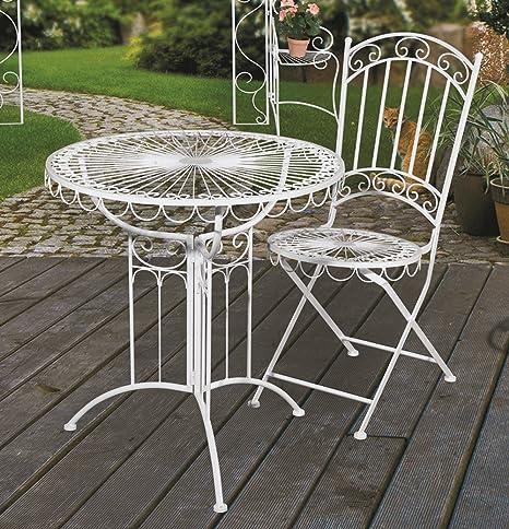 Table et 2 chaises de jardin style romantique **salon de ...