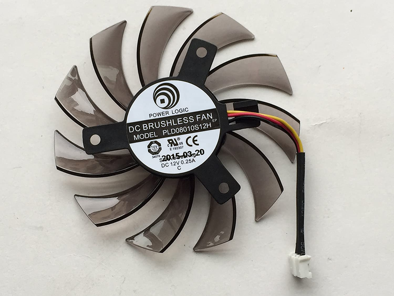 PLD08010S12H 12V 0.25A 75mm 3 Pin Replacement Graphics Card Cooling Fan
