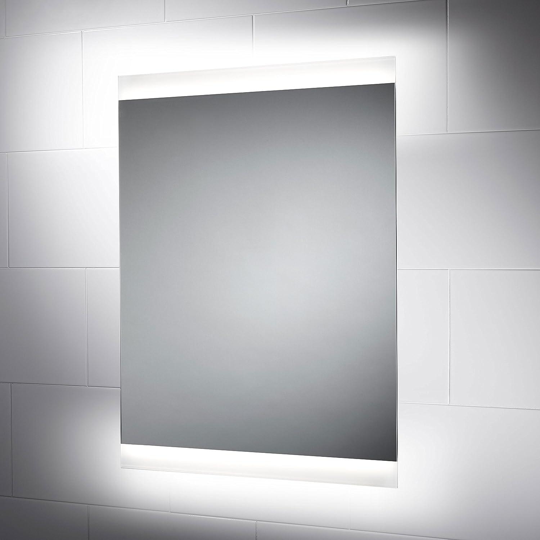 Biella Illuminated Bathroom Mirror 800mm(W) x 600mm(H) with sensor ...