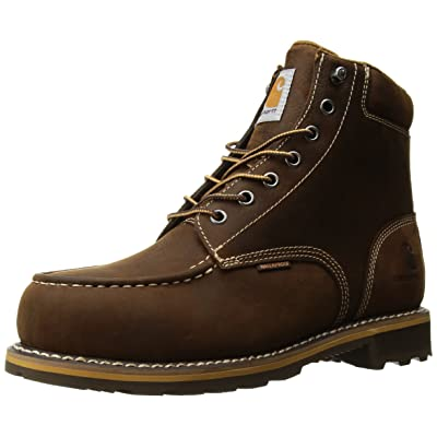"Carhartt Men's 6"" Lug Bottom Moc Steel Toe Cmw6297 Industrial Boot: Shoes"