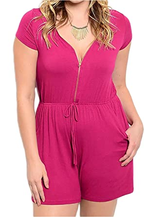 cacf78f8d428 Amazon.com  Smazy by Inance Magenta Romper  Clothing