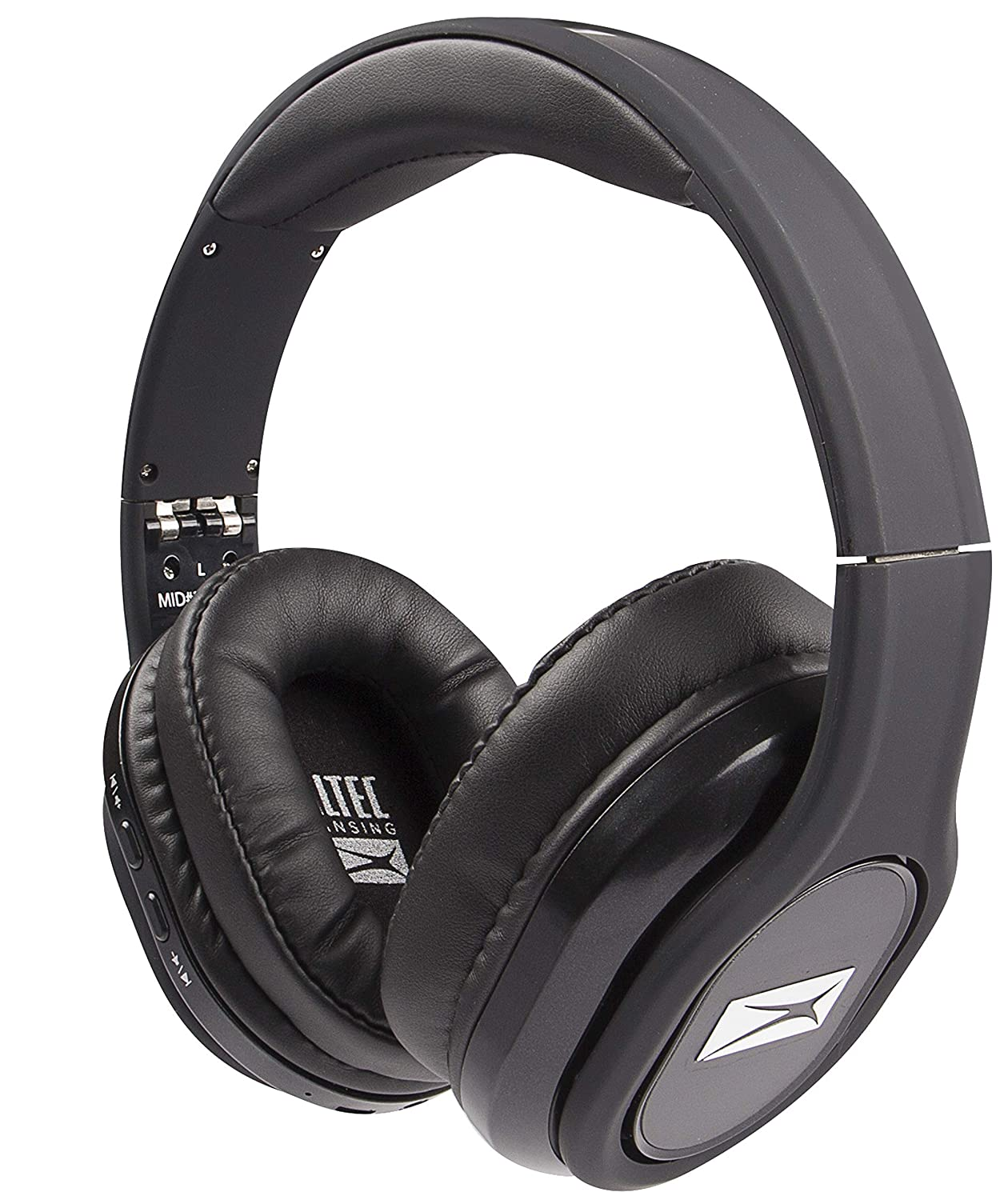Altec Lansing MZX668-BLK Evolution 2 Bluetooth Headphones, Just Ask Siri and Google Voice Assistant, 30 Foot Wireless Range, 8 Hours of Battery Life, Dynamic Bass, Convenient Controls, Black