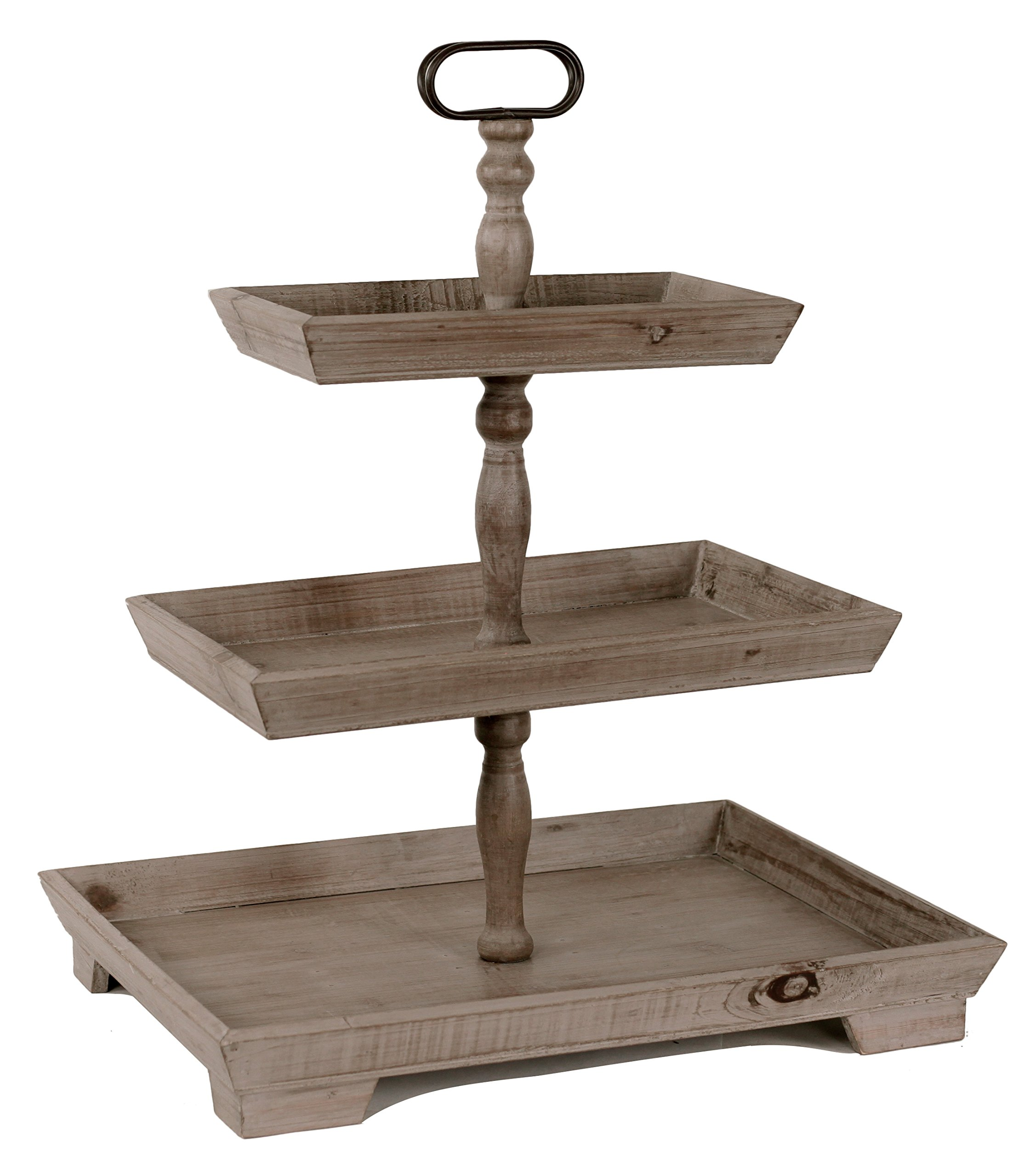 Oohlong Market, Rustic Recycled Pine Rectangular 3 Tier Display