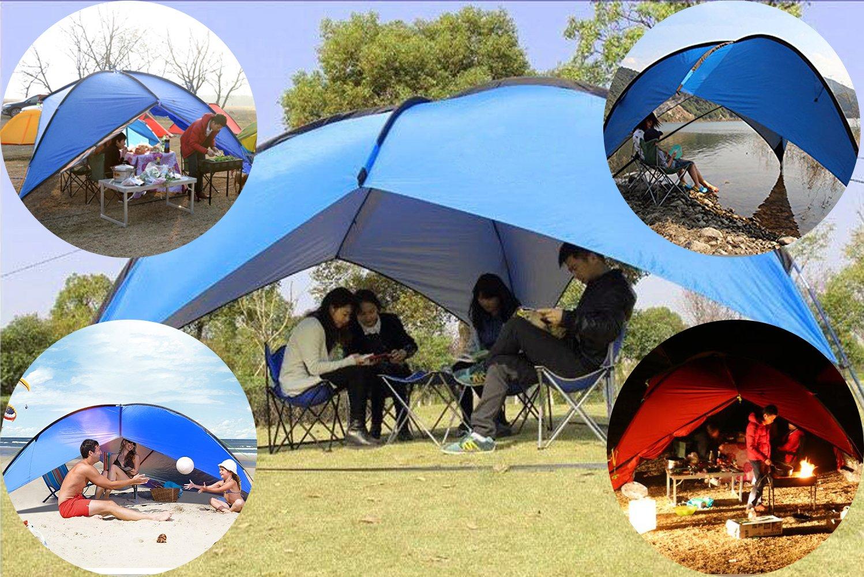 Parapluie de P/êche avec C/ôt/és 2m de Haut pour 5 /à 8 Personne Oxking Tente de Plage Parasol