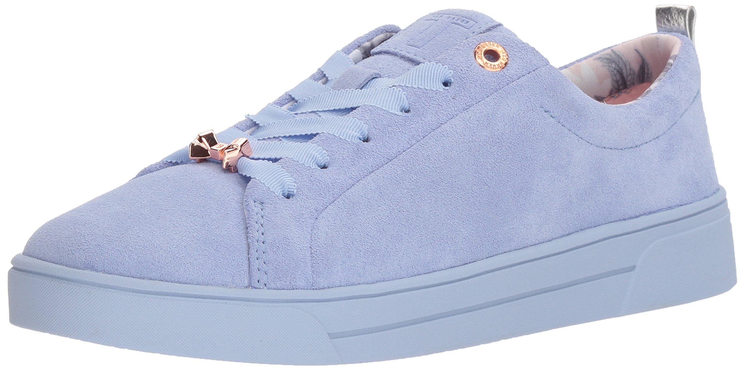 Ted Baker Women's Kellei Sneaker, Light Blue Suede, 8 Medium US