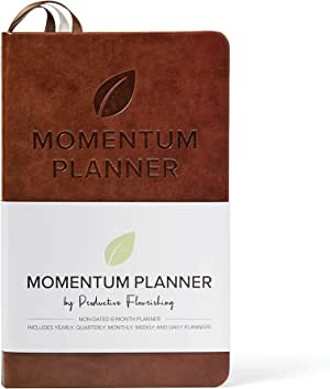 Momentum Planner - Daily and Weekly Planner, Calendar, and Project Planner to Improve Productivity, Prioritization, and Goal-Setting — Hardcover, Undated — Day, Week, Month, Quarter, and Year Planner