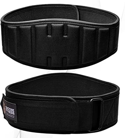 """6/"""" Nylon Weight Lifting Belt for Excersize and Fitness Gym BLACK or BLUE"""