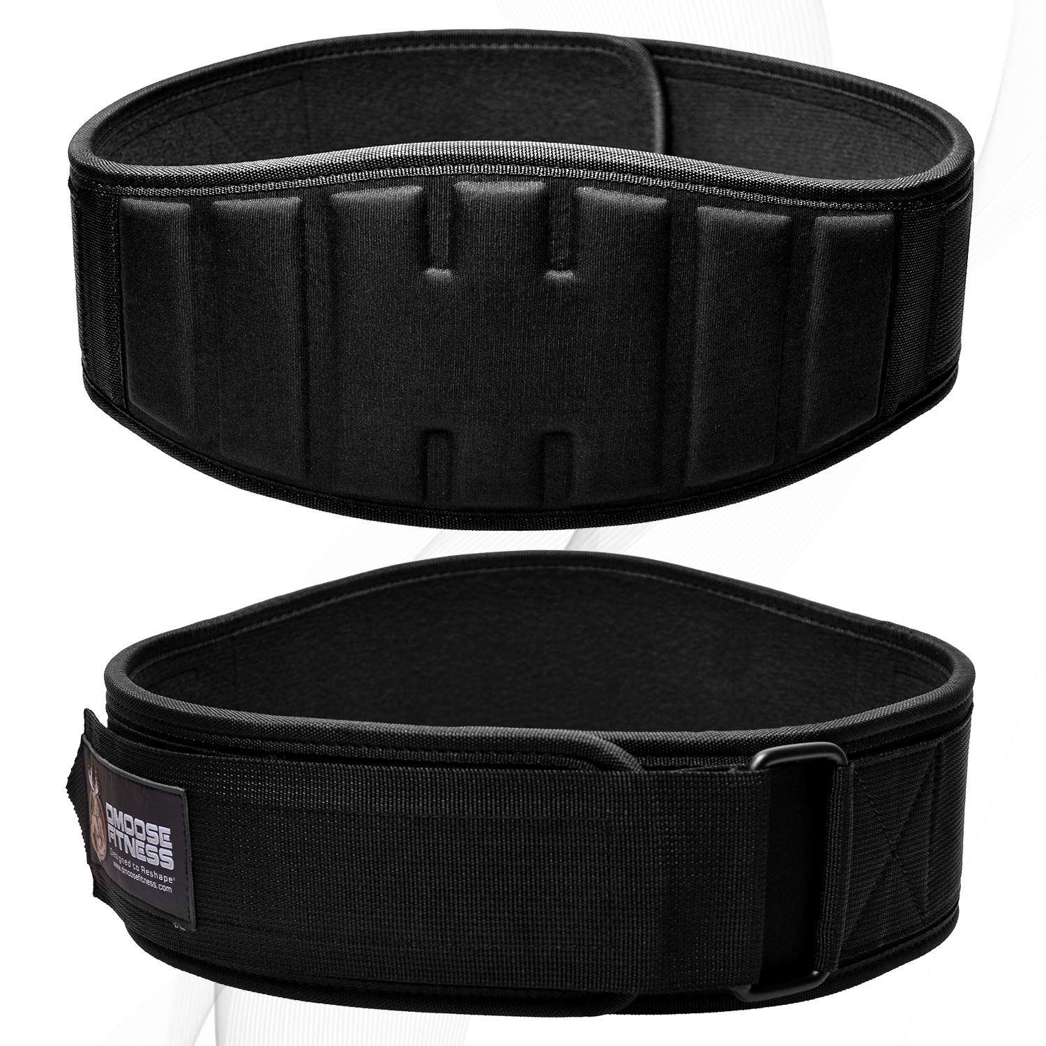 DMoose Fitness Weightlifting Belt for Men and Women, Workout and Exercise Support for Lower Back, Deadlifts and Squats, Posture Corrector for Powerlifting, Bodybuilding