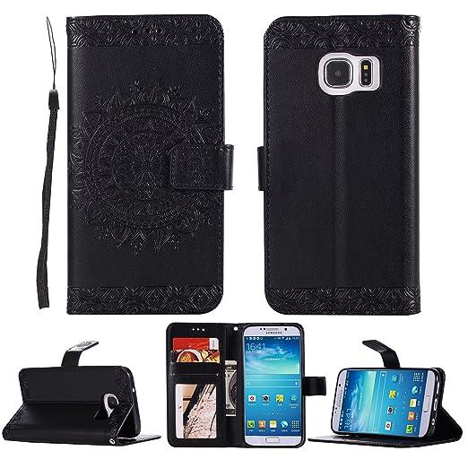 BCIT Samsung Galaxy S7 Edge Funda - Carcasa Libro de Cuero ...