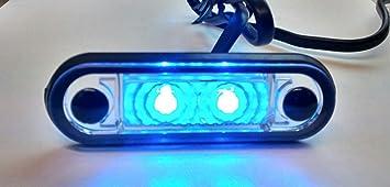 BLU COLORE HELLA TIPO LED FLUSH FIT KELSA BAR LAMPADA LAML005 12 V-24 V
