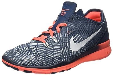 Nike Women's Free 5.0 TR Fit BlueMangoGrey 704695 406 (Size: 6.5)