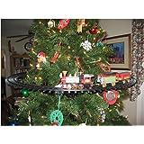 nicky bigs novelties light sounds animated christmas train set holiday decoration mounts in tree - Train Under Christmas Tree