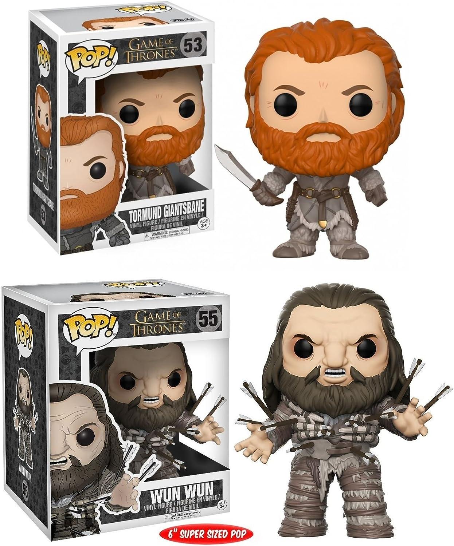 Funko POP! Game Of Thrones: Tormund Giantsbane + Wun Wun - Vinyl Figure Set NEW: Amazon.es: Hogar