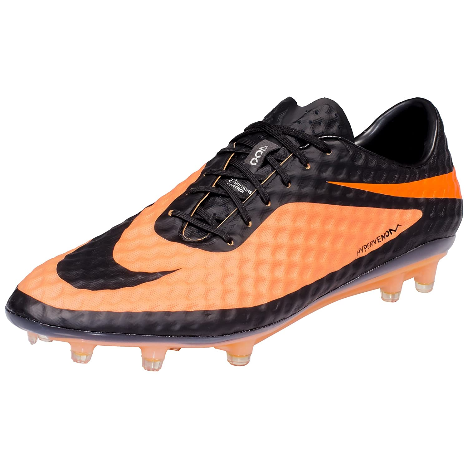 Amazon.com | Nike Hypervenom Phantom FG - (Black/Bright Citrus/Black) (7) |  Soccer