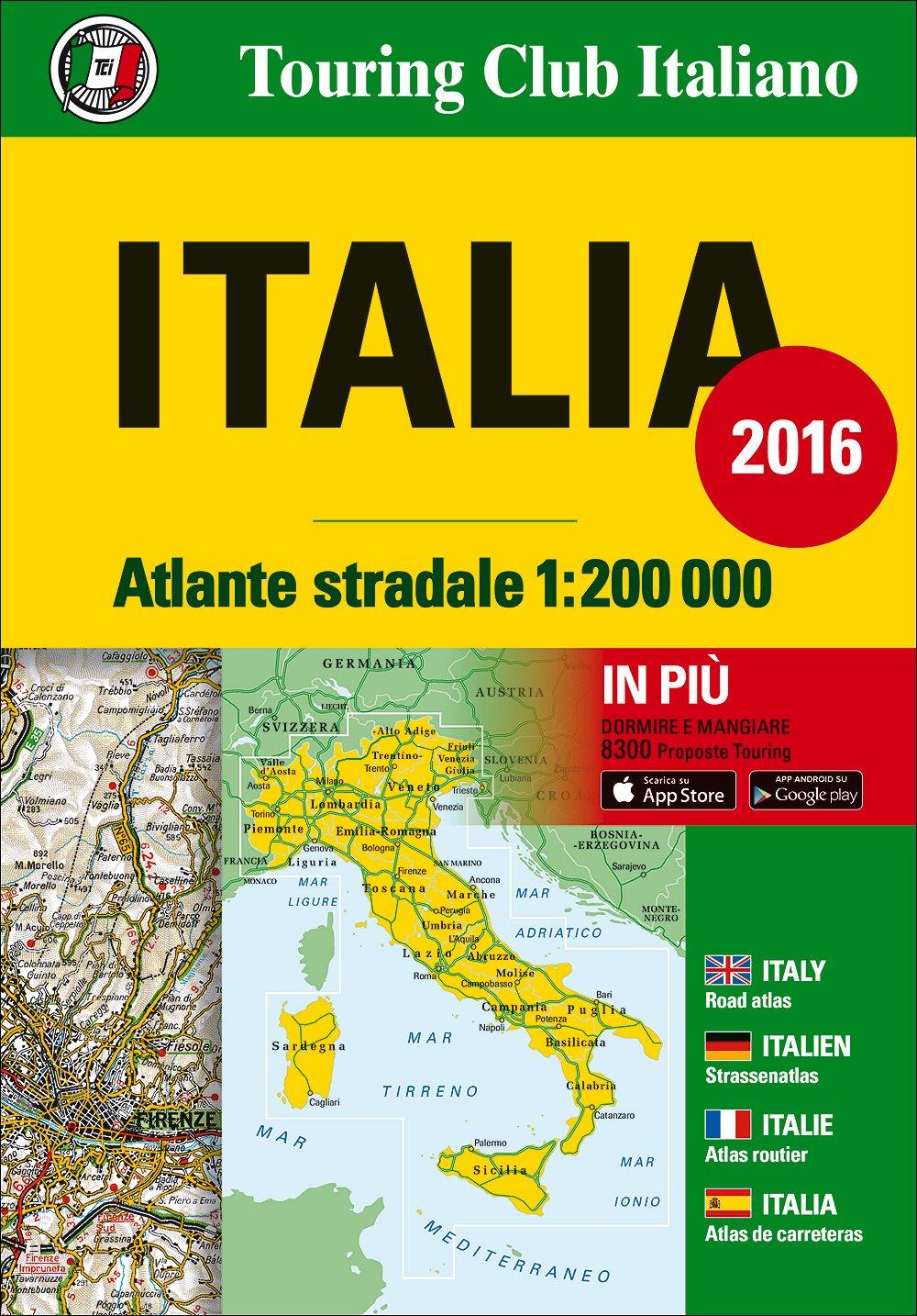 Italy Atlas - Atlante Stradale 2016: TCI.A0