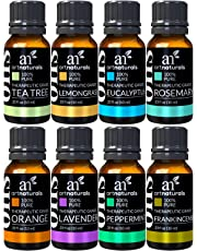 ArtNaturals Aromatherapy Top 8 Essential Oils – 100% Pure Of The Highest Quality – Peppermint, Tee Tree, Rosemary, Orange, Lemongrass, Lavender, Eucalyptus, & Frankincense – Therapeutic Grade