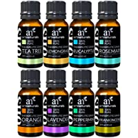 ArtNaturals Therapeutic-Grade Aromatherapy Essential Oil Set – (8 x 10ml) - Top 8 Pure of the Highest Quality Oils – Peppermint, Tea Tree, Rosemary, Sweet Orange, Lemongrass, Lavender, Eucalyptus, Frankincense
