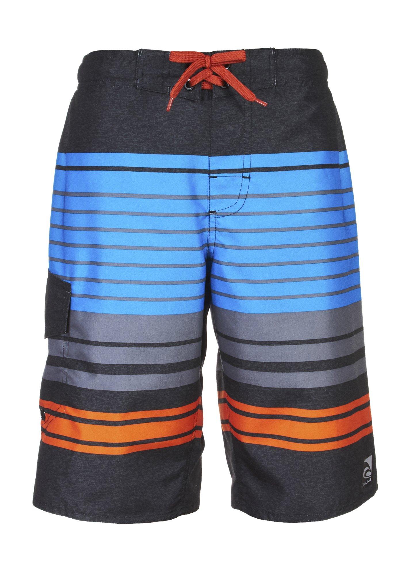 Laguna Boys Impact Zone Swim Trunk Charcoal Combo 10/12