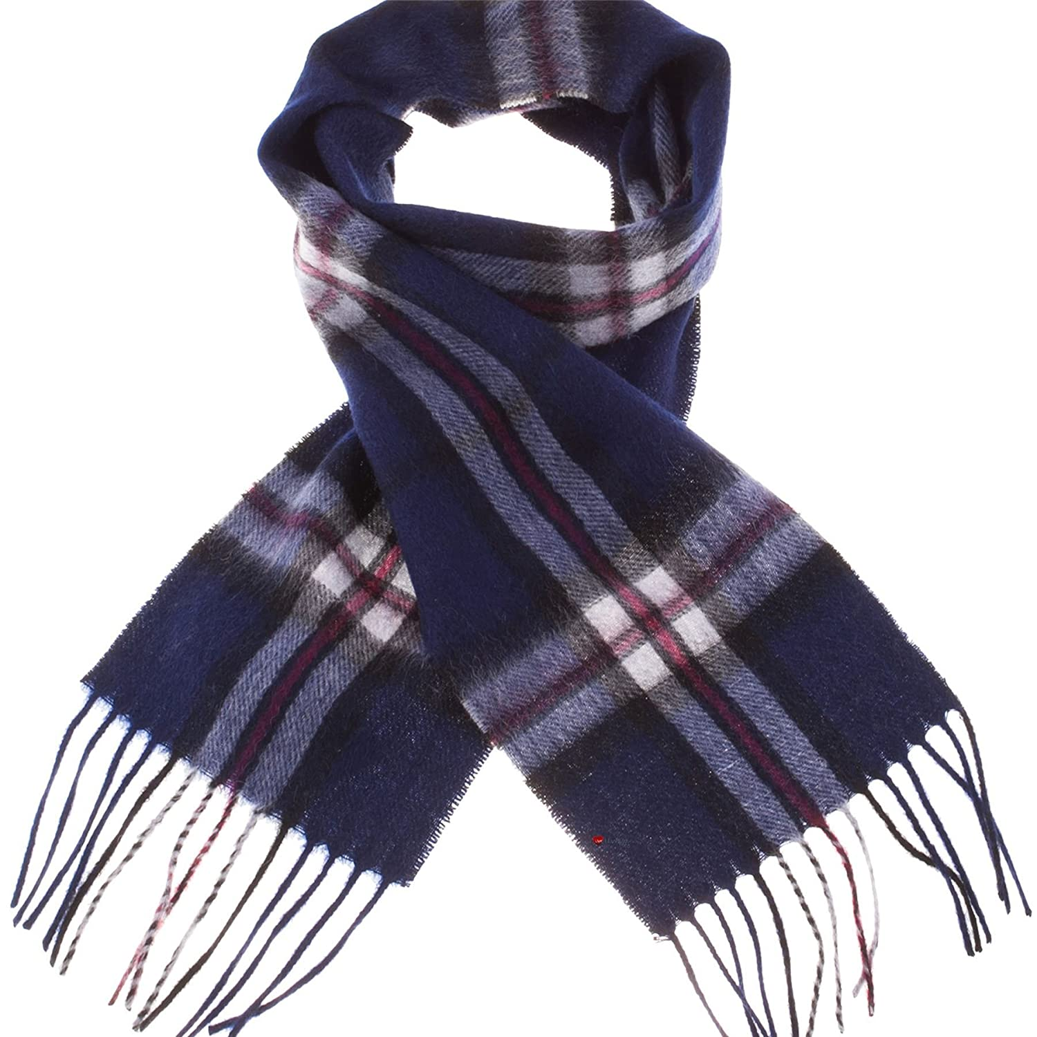 Deluxe Edinburgh Kids 100/% Lambswool Scarf Thomson Navy Childs Soft and Warm Gift from Scotland