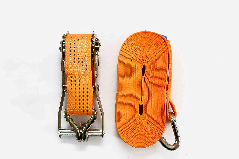 /2/x correa de trinquete amarre con mango de hierro y doble J gancho de 5000/kg 5t 11/m x50/mm Webbing DiversityWrap/