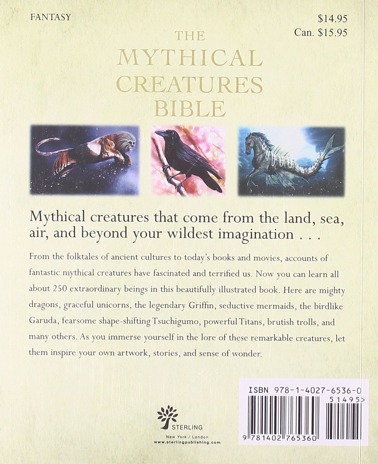 The Mythical Creatures Bible Definitive Guide To Legendary Beings Brenda Rosen 9781402765360 Books
