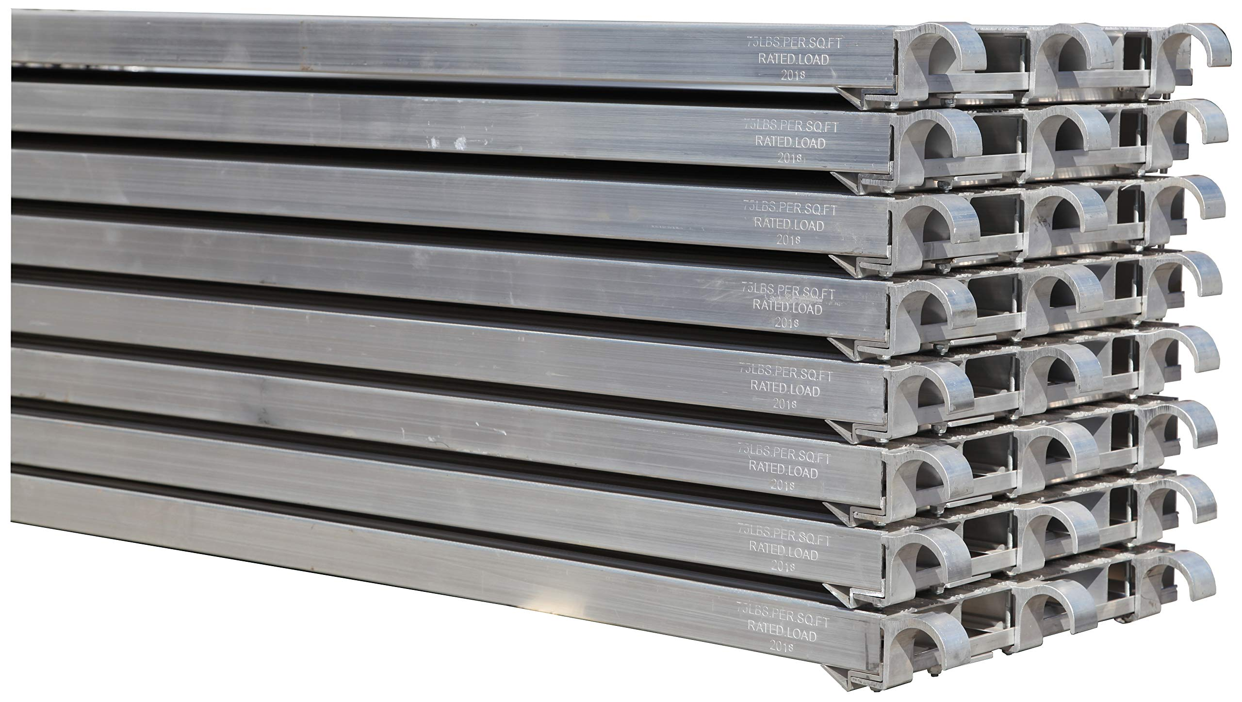 CBM Scaffold 8 PC All Aluminum 75-Lbs per Square-Feet Duty Rating Walk Board 19 1/4'' Wide by 7-Feet Long (8)