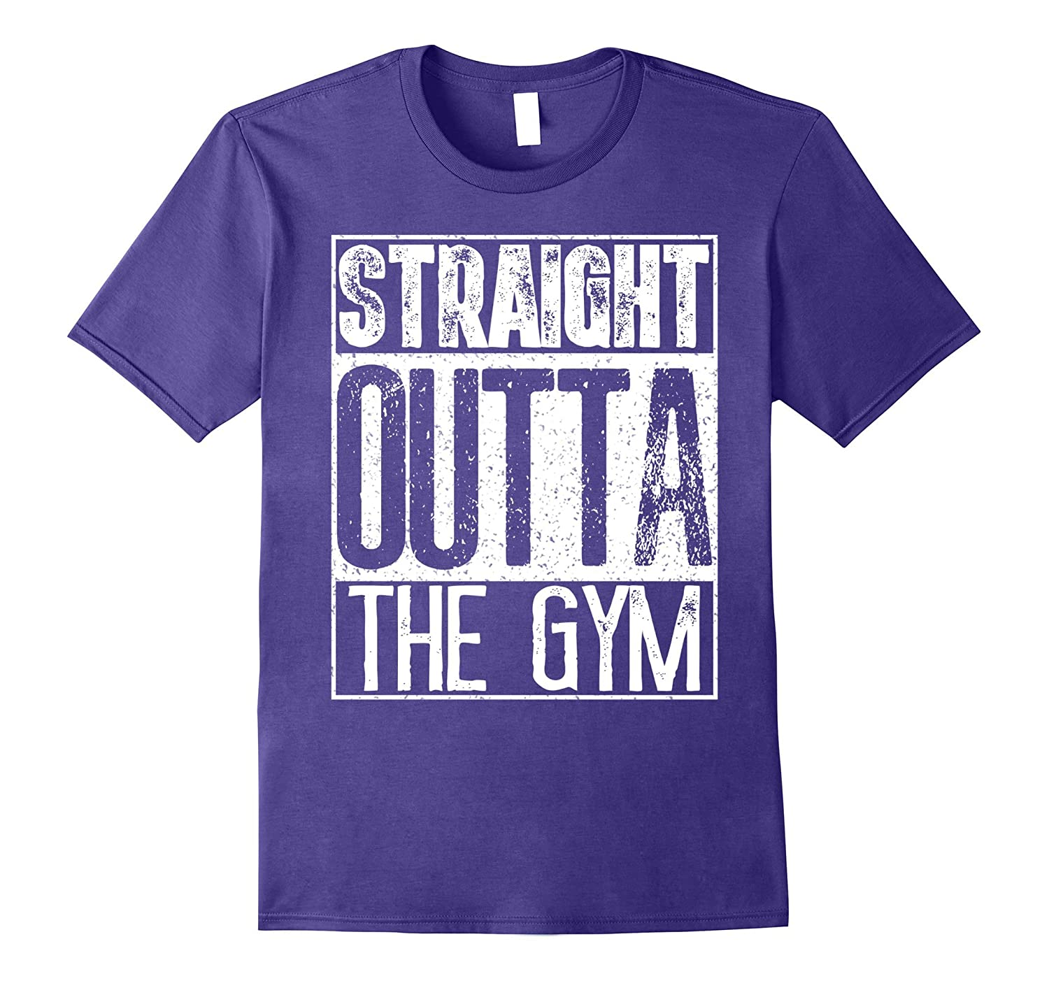 Straight Outta The Gym T-Shirt Funny Bodybuilder Sport Gift-FL