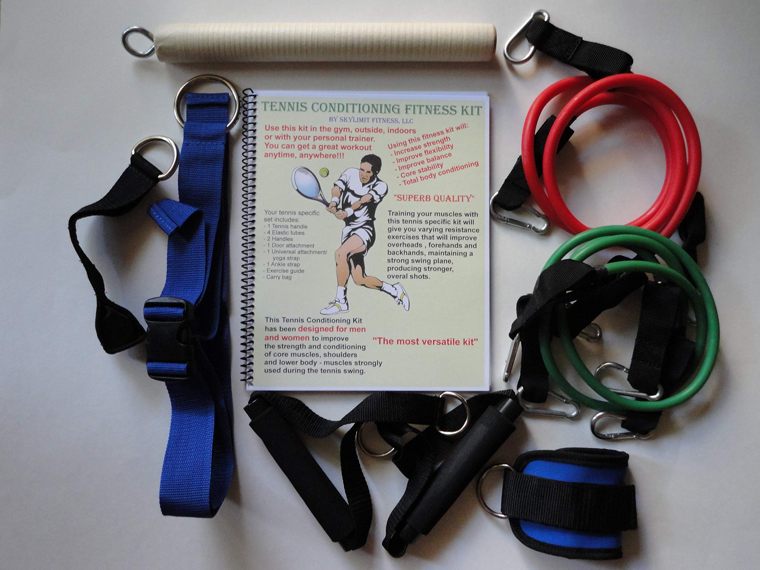 Tennis Conditioning Fitness Kit #1TCFK Ideal Tool to Improve Strength, Flexibility,Core Stability, Balance. You can use it on Tennis Court,Home or in The Gym.