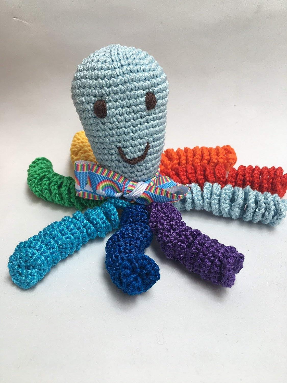 Pulpo de crochet para recien nacidos, pulpo amigurumi para bebés ...