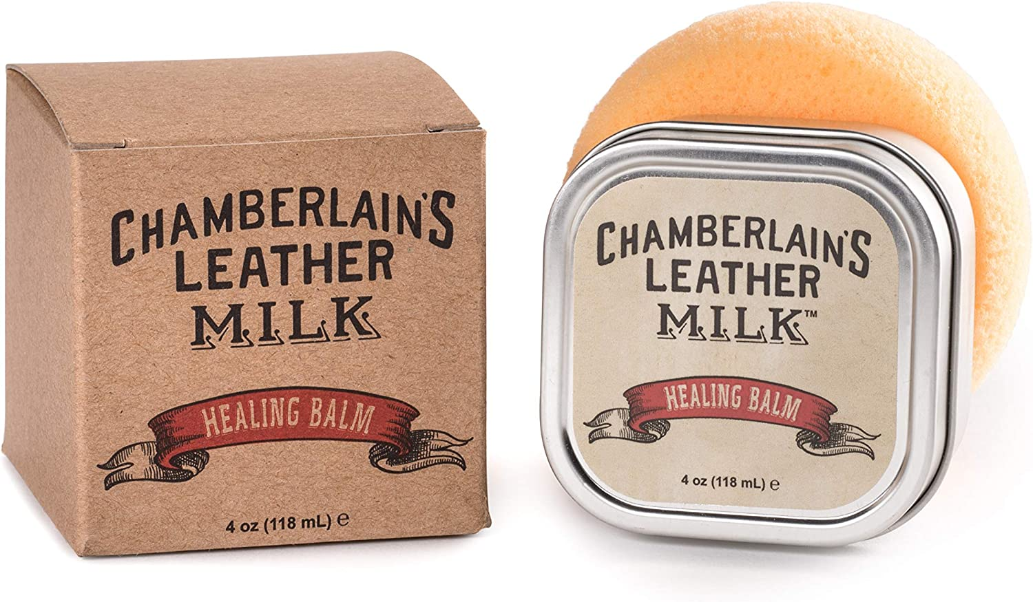 Leather Conditioner & Cleaner, Scratch Repair   Leather Milk Healing Balm - Heals & Restores Dry, Cracked, Scratched Leather   All Natural, Non-Toxic Leather Cleaner