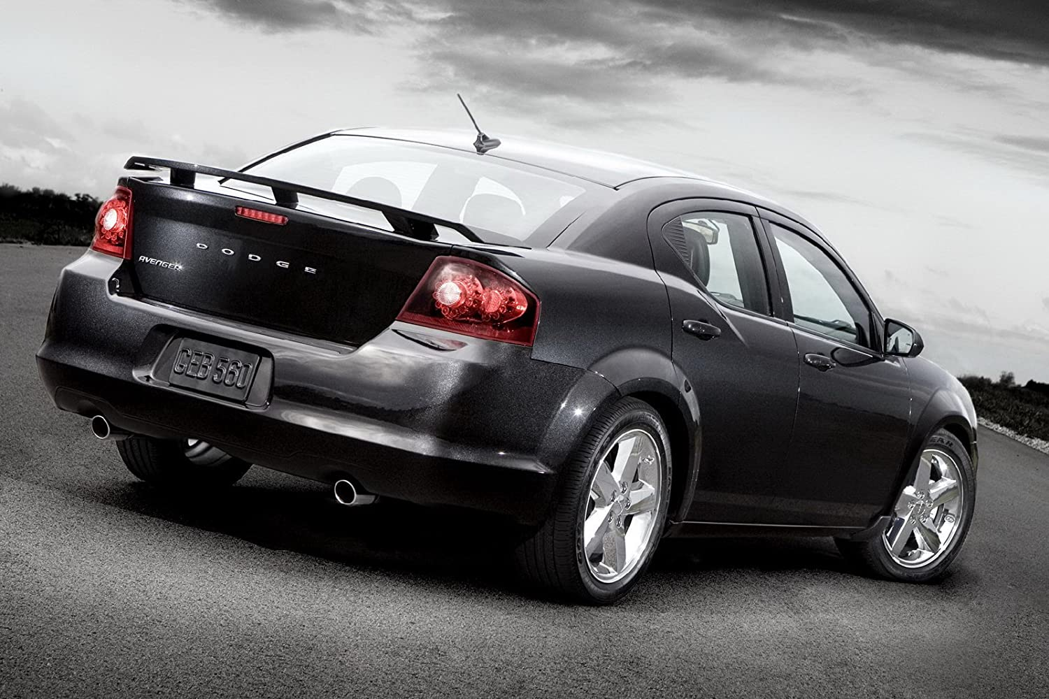 California Dream Compatible With Black PX8 2008-13 Dodge Avenger Factory Style Spoiler in the Paint Code of Your Choice