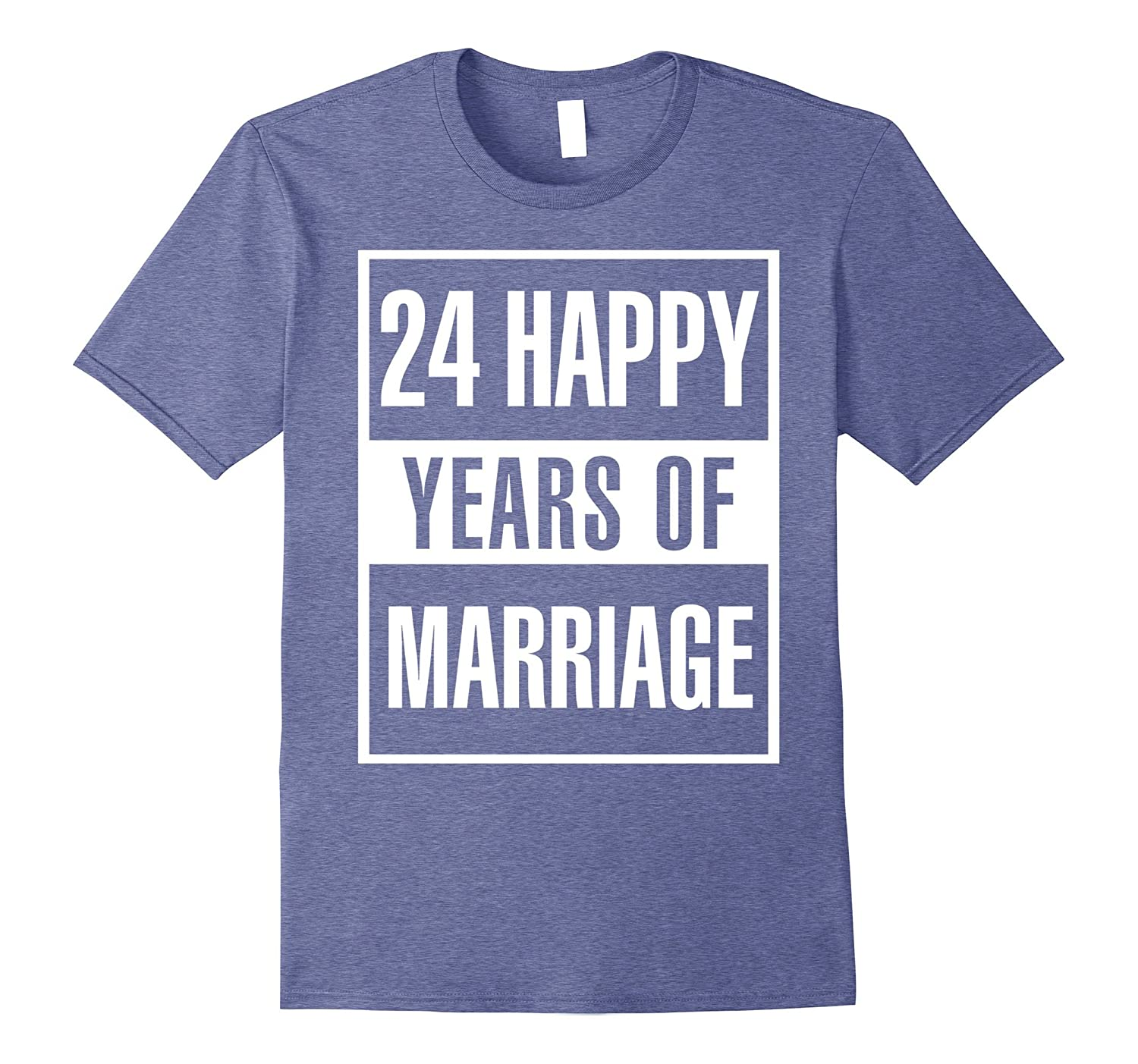 24th Wedding Anniversary Gift Idea Husband And Wife T Shirt