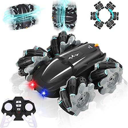 Electric Remote Control Stunt Car USB Rechargeable Off-Road Vehicle Xmas Gift