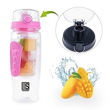 Plástico botella 1l botella de Tritan, deportes caño seguro, botella de agua BPA libre
