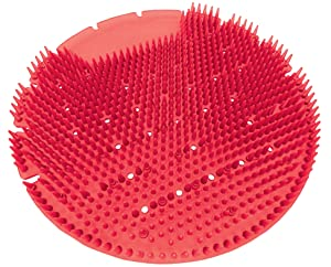 Big D 825 The Opal Urinal Screen, Apple-Cinnamon Fragrance, Red (Pack of 10) - Anti-splash spikes - Lasts up to 60 days - Ideal for restrooms in offices, schools, restaurants, hotels, stores