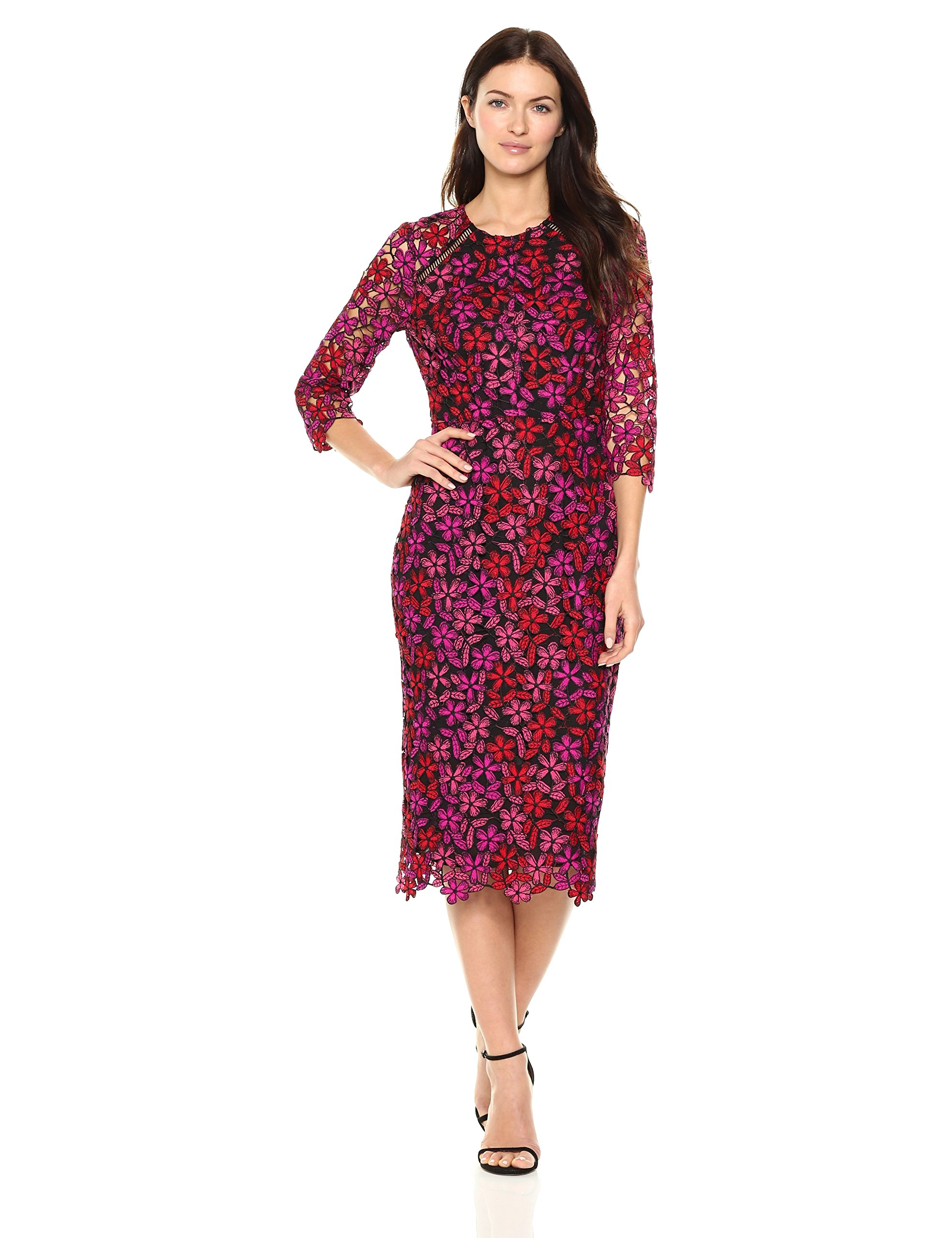 Shoshanna Women's Havan Dress, Fuchsia Multi, 4