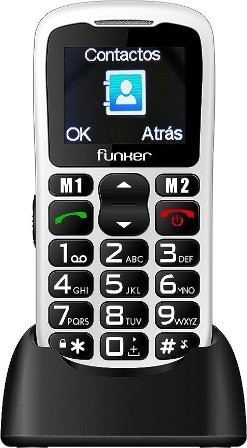 Teléfono Móvil Funker C50 Easy Blanco para Personas Mayores con ...