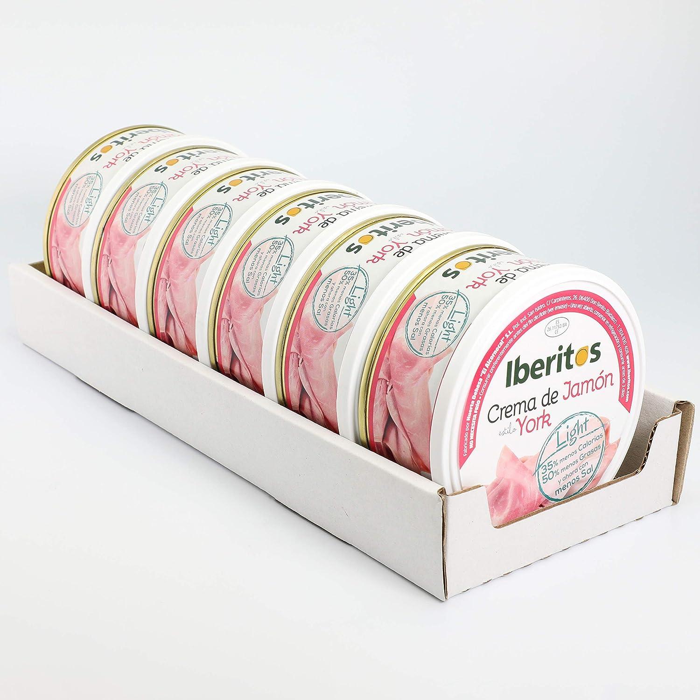 Iberitos - Crema De Jamon York Light - 6 Latas X 250 Gramos