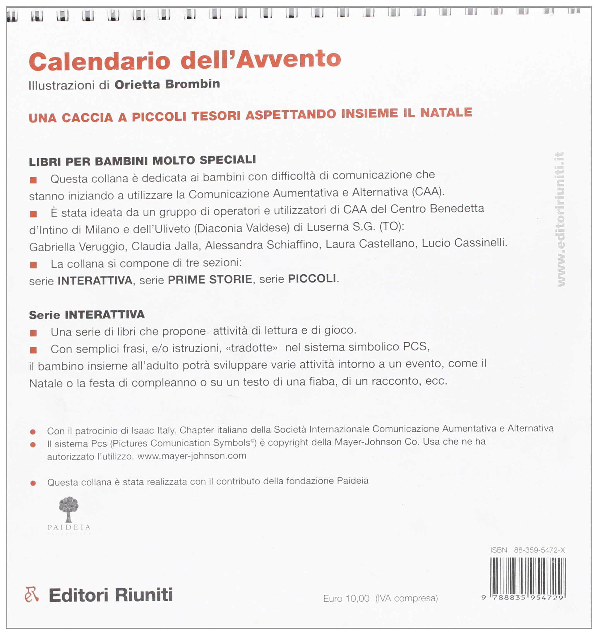 Frasi Per Calendario Avvento.Amazon It Calendario Dell Avvento Orietta Brombin Libri