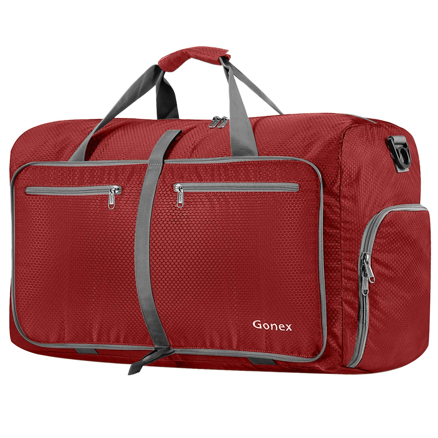 Gonex 80L Foldable Travel Duffle Bag for Luggage, Gym, Sport, Camping, Storage, Shopping Water Repellent & Tear Resistant Red product image