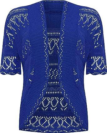 6dafee75 Ladies Knitted Bolero Crochet Cardigan Shrug at Amazon Women's ...