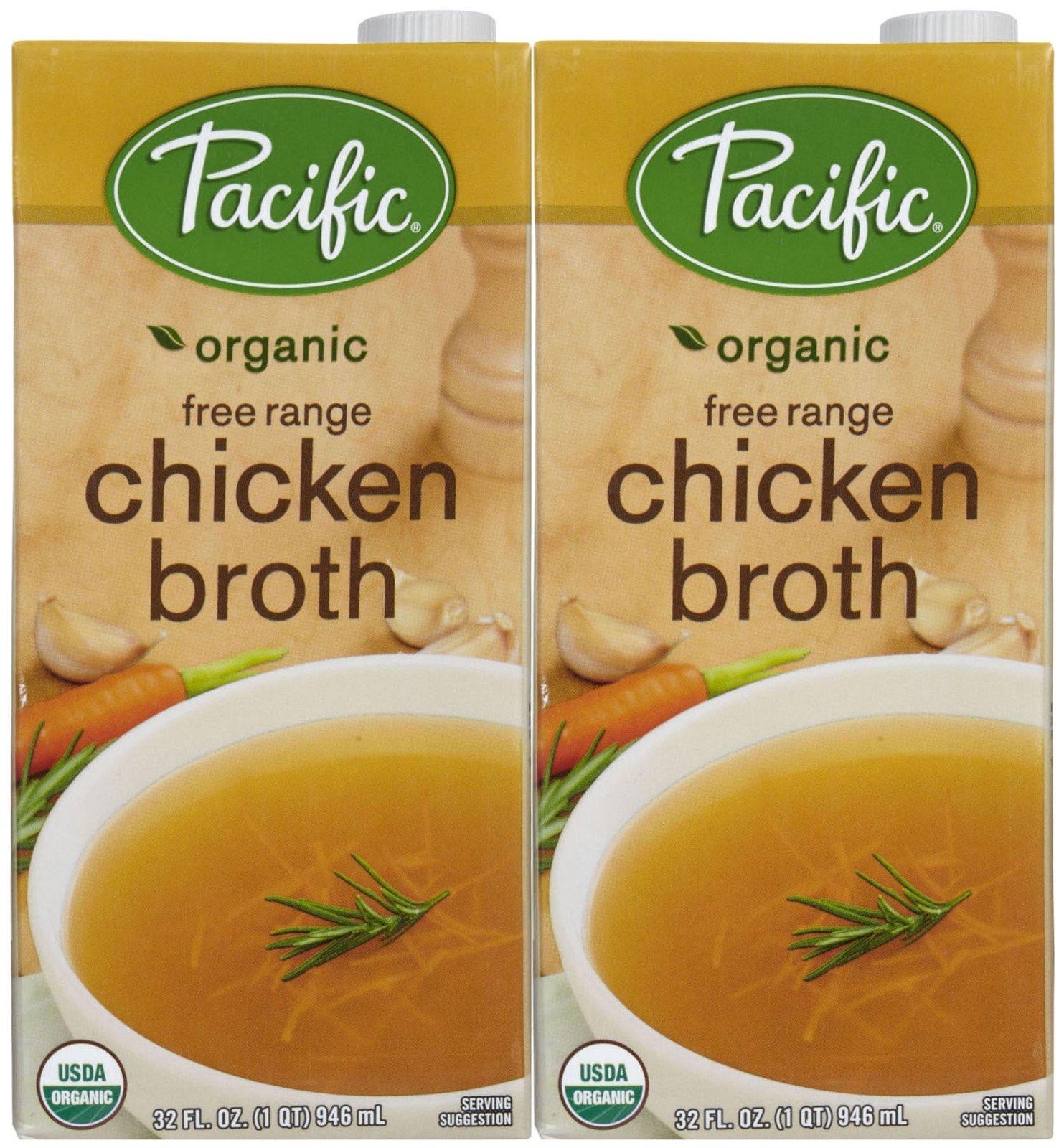 Pacific Foods Organic Chicken Broth-32 Oz-2 Pack by Pacific Foods