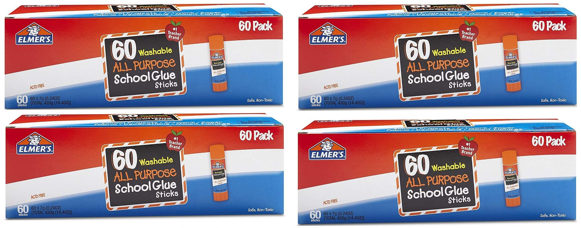 Elmers All Purpose School Glue Sticks, Washable, 0.24-ounce sticks, 240 Count