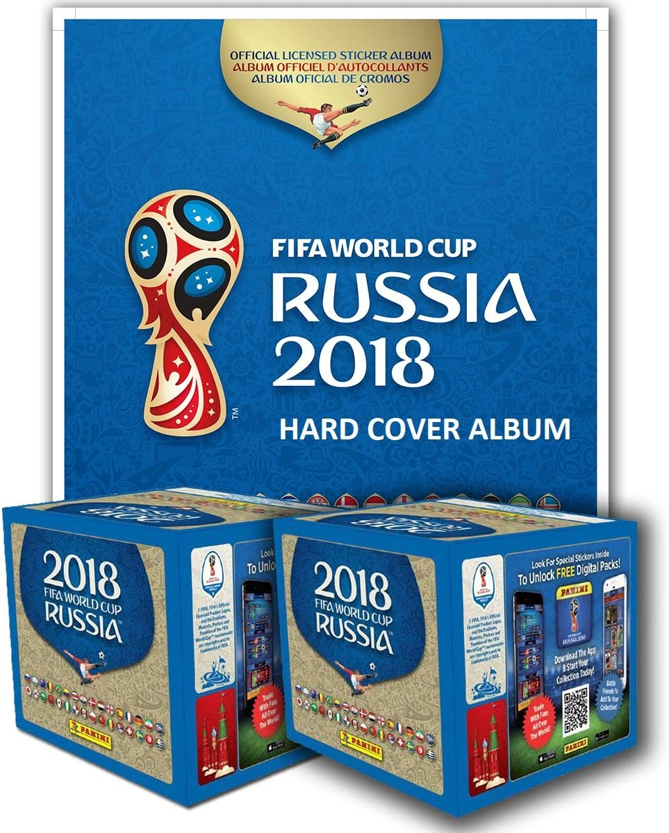PANINI 2018 FIFA WORLD CUP RUSSIA HARD COVER ALBUM + 2 CAJAS: Amazon.es: Deportes y aire libre