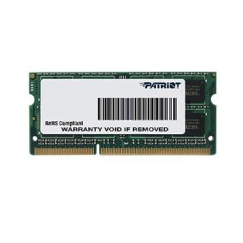 Patriot Memory Serie Signature SODIMM Memoria RAM DDR3 1600 MHz PC3-12800 8GB (1x8GB) C11 - PSD38G16002S