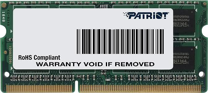 Patriot Signature Line 1.35V 8GB DDR3 1600MHz PC3-12800 CL11 SODIMM Low Voltage Memory PSD38G1600L2S