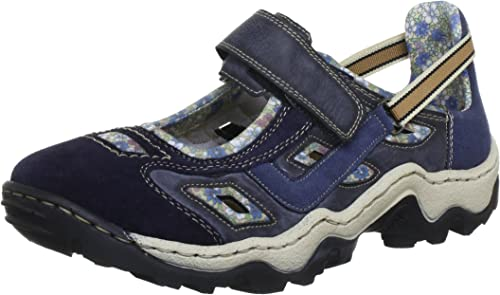 Rieker Damen L0275 Sneakers, Blau (PazifikAtlantic 2cVvG
